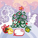 Christmas card vector illustration