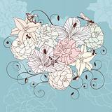 lovely floral heart