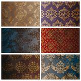 set of seamless vintage background