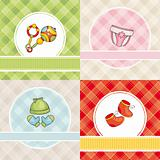 set of vector baby cards