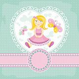 vector baby card with girl