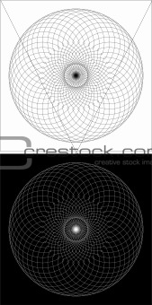 Circular black and white design