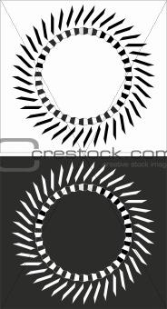 Circular black and white design