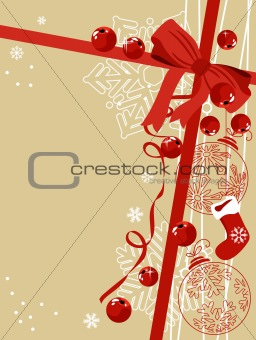 Background with traditional Christmas symbols