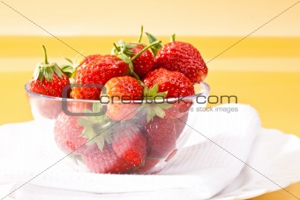 food series: ripe strawberry in the bowl