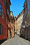 Stockholm. Narrow street of the Old Town