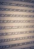 Abstract binary code, vignetting
