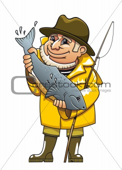 Smiling fisherman
