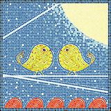 Birds on a wire mosaic