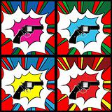 Pop art pistol