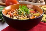 Bean Soup with Meatballs and Other Vegetables