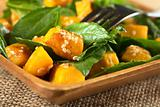 Pumpkin Spinach Salad