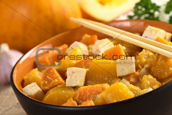 Tofu, Pumpkin and Sweet Potato Curry