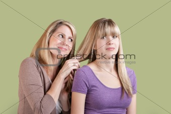Over Involved Mother with Annoyed Daughter