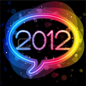 2012 Lights Speech Bubble