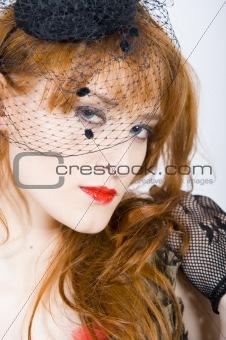 beautiful sexy retro woman