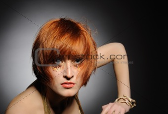 Beautiful red heaired woman portrait