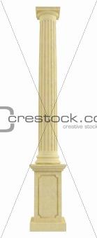 Classic column on pedestal