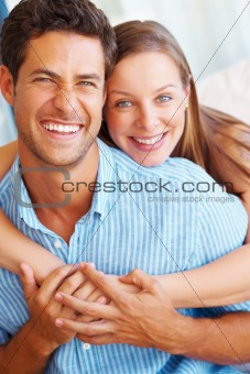 Cute couple smiling