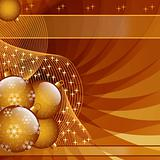 Gold christmas balls abstract
