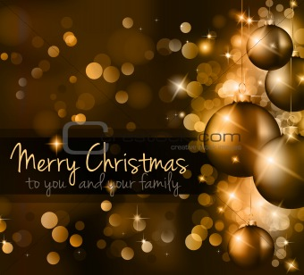 Elegant Classic Christmas Background 