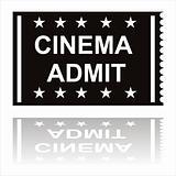 black cinema admit icon