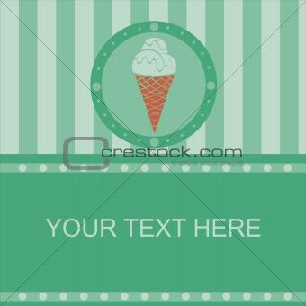 green ice cream frame