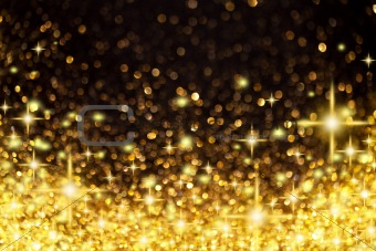 new style d6bcf 78825 Image 4359249: Golden Christmas Lights and Stars Background