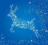 vector reindeer ans snow