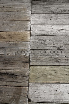 Old plank boardwalk