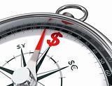 dollar compass conceptual image