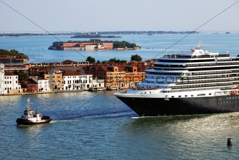 Cruise ship in Venice, Italy, Europe