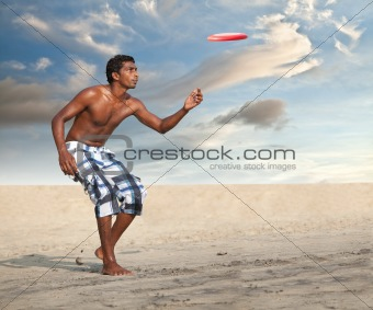 Freestyle Flying Disc Sports Player