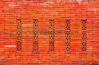 artistical terracotta wall