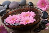 flowers in bowl for aromatherapy