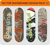 Skateboard design pack
