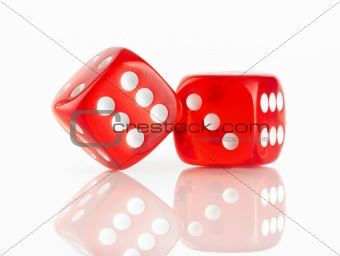 Red and white dices