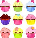 Various cupcake
