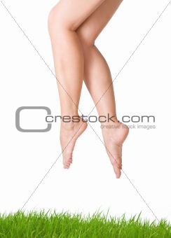 Sexy and smooth woman legs