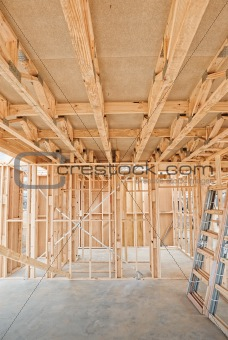 New home construction framing.