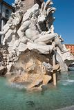 Nettuno&#39;s fountain in Piazza Navona at Roma