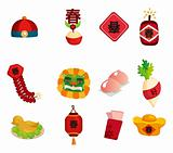 Chinese New Year decorative elements
