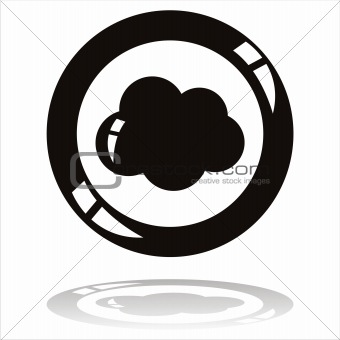 black cloud button