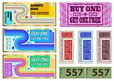 Colorful ticket Illustrations