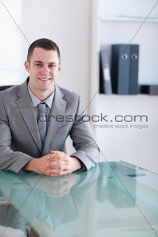 Close up of businessman