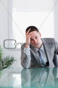 Close up of disappointed businessman
