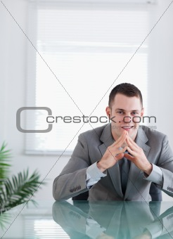 Close up of happy businessman
