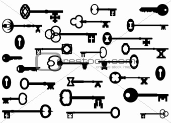 Image 4362259 Vintage Key Silhouettes From Crestock Stock Photos