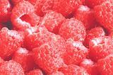 Fresh tasty juicy raspberries background