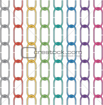 set of colorful metal chains
